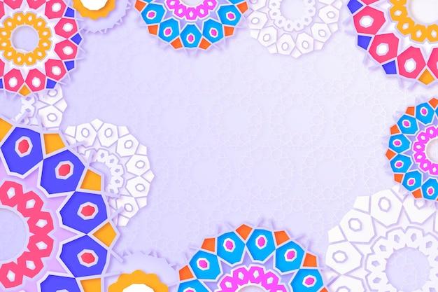 Realistic three-dimensional arabic ornamental background Free Vector
