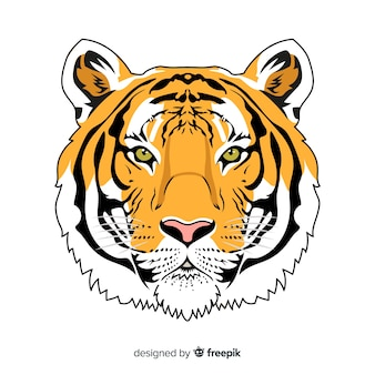Realistic tiger background