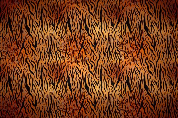 黒のストライプと現実的な虎の肌の質感