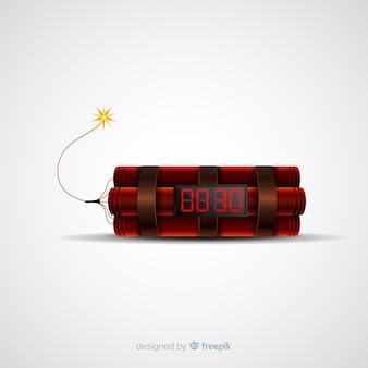 Реалистичная бомба замедленного действия с динамитом