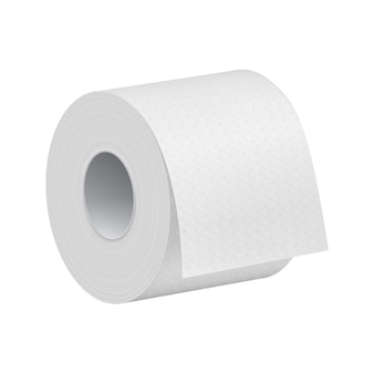 Realistic toilet paper roll
