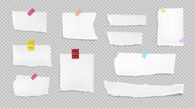 Collezione di carta strappata realistica