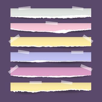 Коллекция реалистичных рваных бумаг