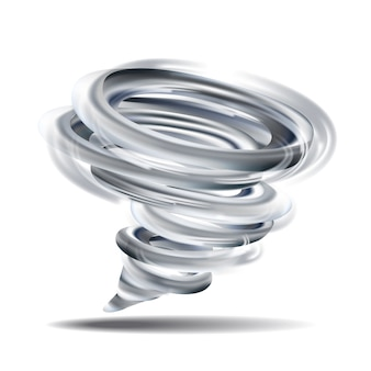 Realistic tornado swirl isolated illustration