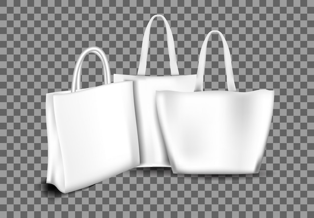 Realistic totebag collection
