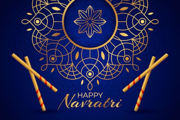 Realistic traditional background for navratri