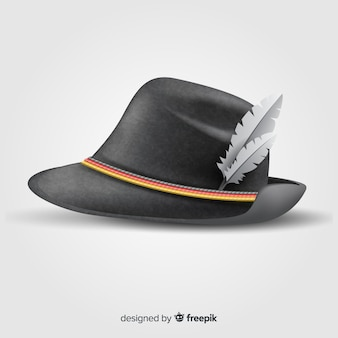 Realistic traditional oktoberfest hat