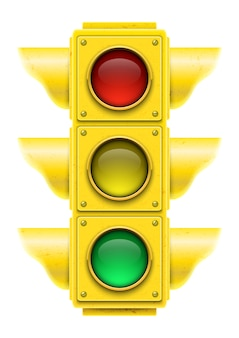Realistic traffic light.  illustration.