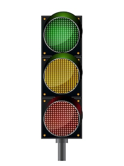 Realistic traffic lights isolated