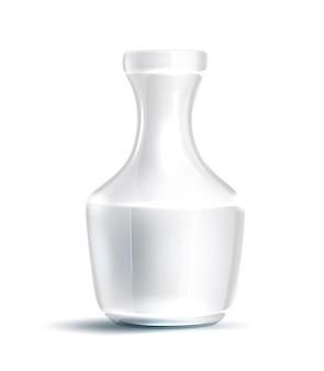 Realistic transparent glass  flower vase