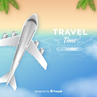 Realistic travel background