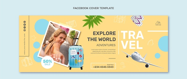 リアルな旅行facebookカバー
