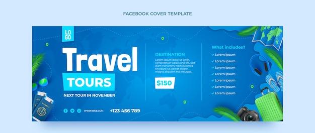 Copertina facebook di viaggio realistica