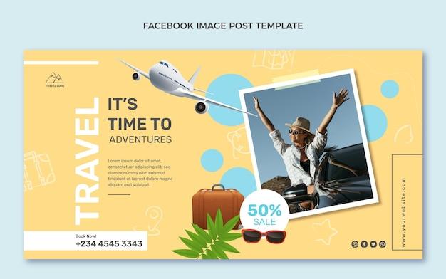Realistic travel facebook post