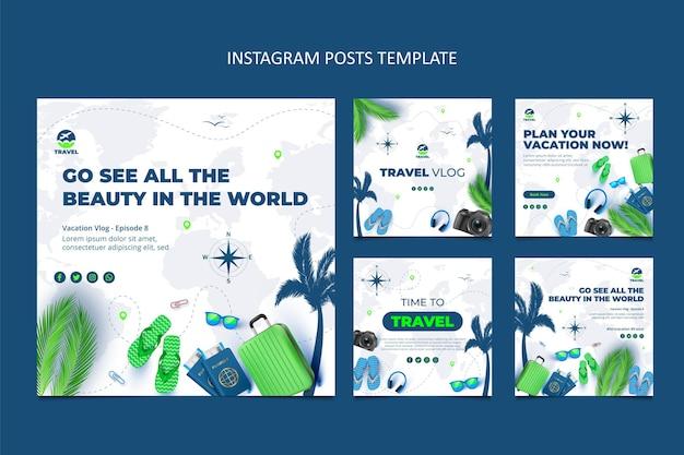Realistic travel instagram posts