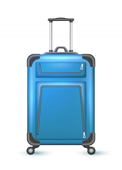 Realistic travel suitcase bag vacation
