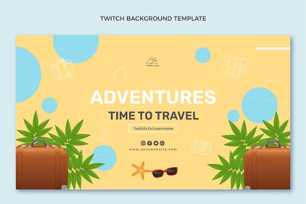 Realistic travel twitch background