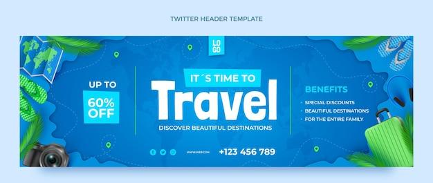 Реалистичный заголовок твиттера о путешествиях