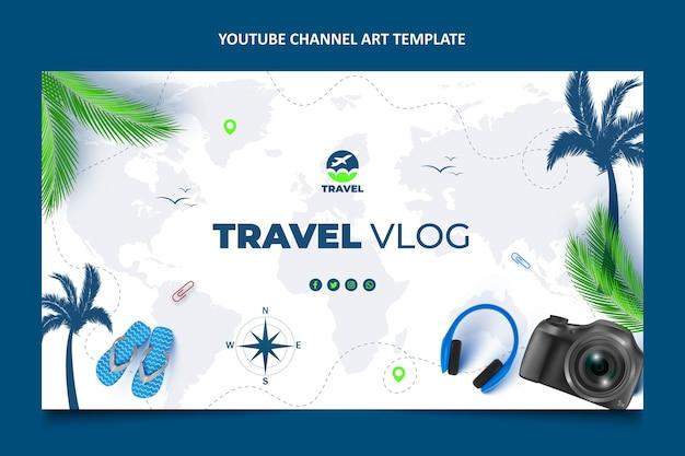 リアルな旅行youtubeチャンネルアート