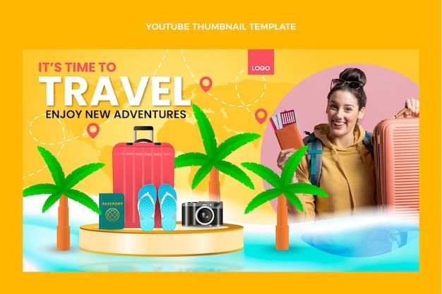 Реалистичная миниатюра на youtube для путешествий