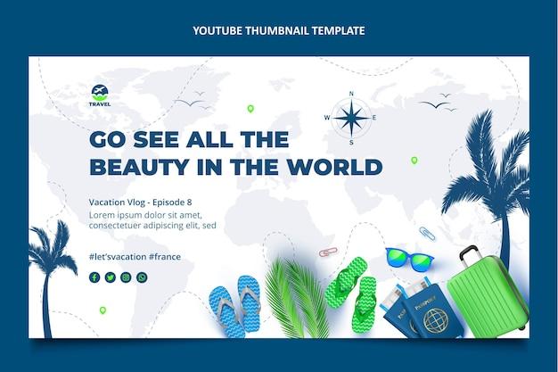 リアルな旅行youtubeサムネイル