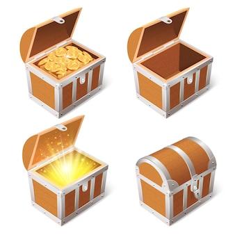 Realistic treasure chest illustration
