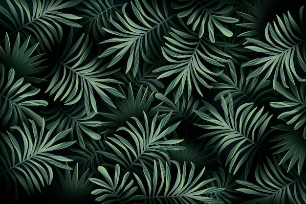 Realistic tropical leaves wallpaper