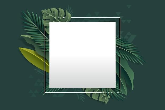 Banner vuoto realistico estate tropicale
