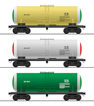 Realistic truck. front view; side view.