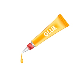 Realistic  tubes of glue packaging   template.