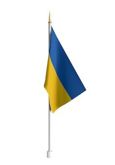 Реалистичный флаг украины, изолированные на белом фоне