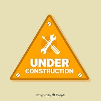 Реалистичная под строительство знак фон