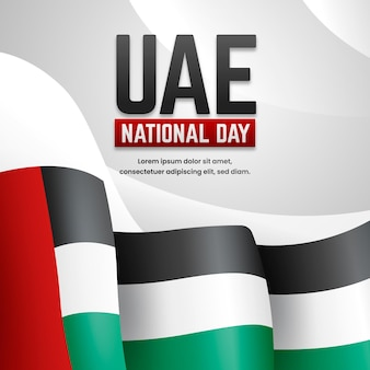 Realistic united arab emirates national day background