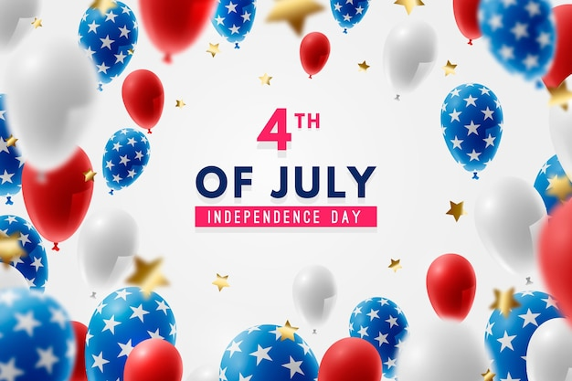 Realistic usa independence day background