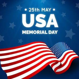 Realistic usa memorial day illustration