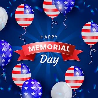Illustrazione realistica del memorial day degli stati uniti