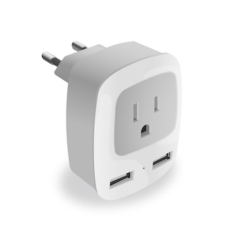 Realistic usb charger adapter for electrical equipment
