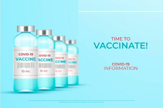Illustrazione realistica della campagna di vaccinazione