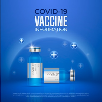 Realistic vaccination campaign illustration