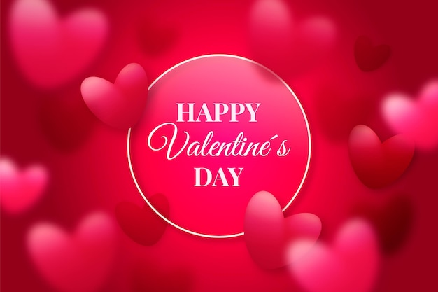 Realistic valentine's day background with hearts