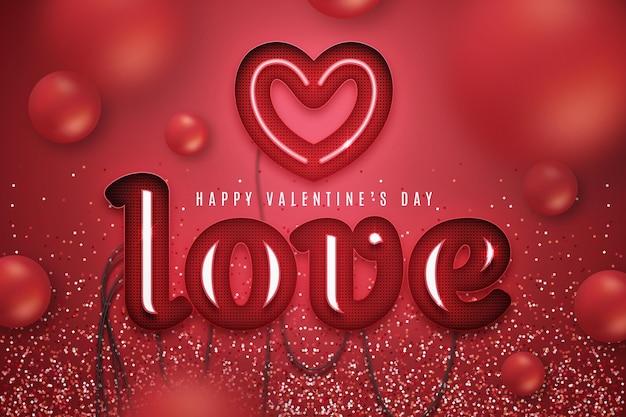 Realistic valentine's day background