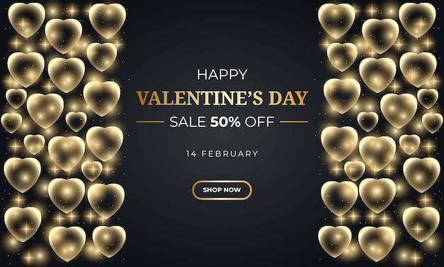 Реалистичная распродажа на день святого валентина с сердечком