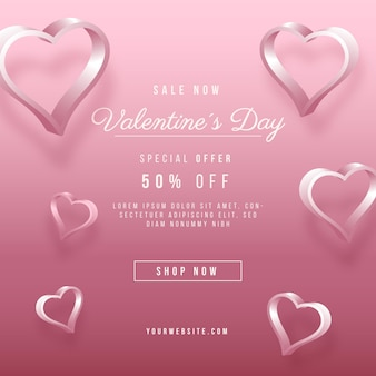 Realistic valentine's day sale