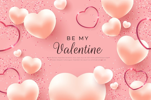 Realistic valentine's day wallpaper
