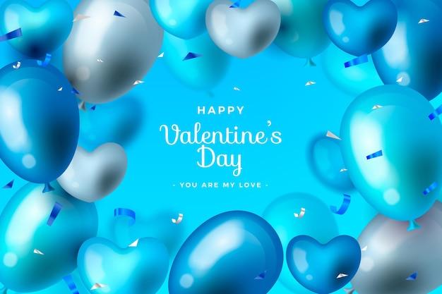 Carta da parati realistica di san valentino