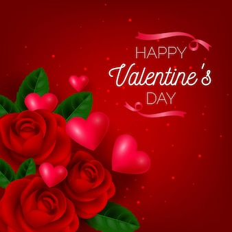 현실적인 발렌타인 데이 배경