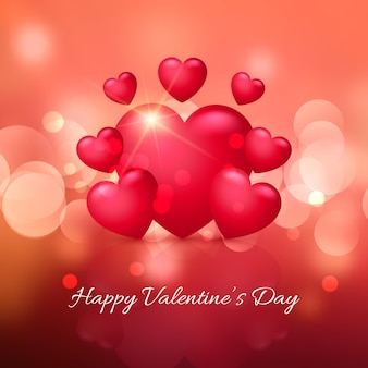 Realistic valentines day background