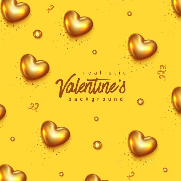 Realistic valentines day greeting card with lettering.