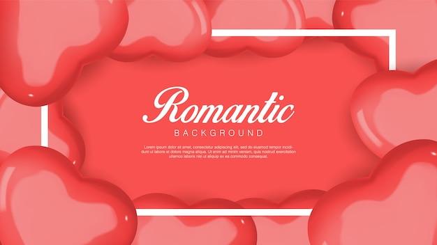 Реалистичный день святого валентина. романтические красные сердечки. flatlay