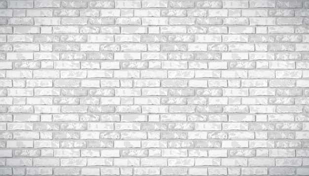 Realistic vector brick wall pattern horizontal background